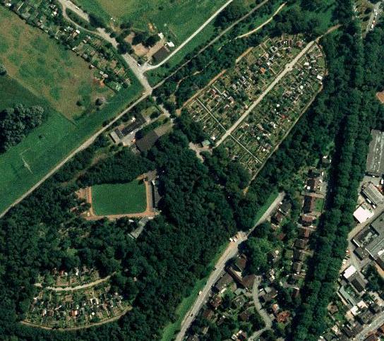 Luftbild der Kleingartenanlage