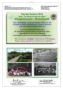 """Tag des Gartens 2015   Motto: """"Im Garten ist man nie allein"""""""