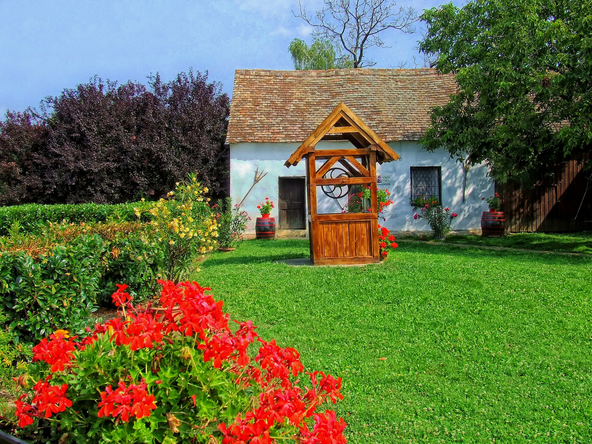 Rasen, Tschechische Republik, Hdr, Haus